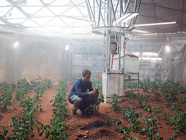 《火星任務》中的太空耕作