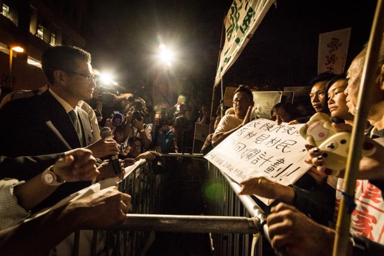 東北居民組織向發展局陳茂波要求徹回發展計劃 photo by 戴毅龍