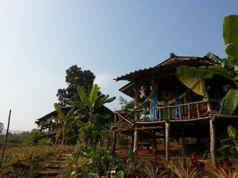 依山而建的高腳小木屋,防蛇的功用彰顯源遠流長的生活智慧。