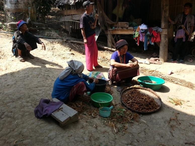 泰國山地苗族人售賣手製民族風衣飾作為主要收入來源,對外來遊客來訪見慣不怪。