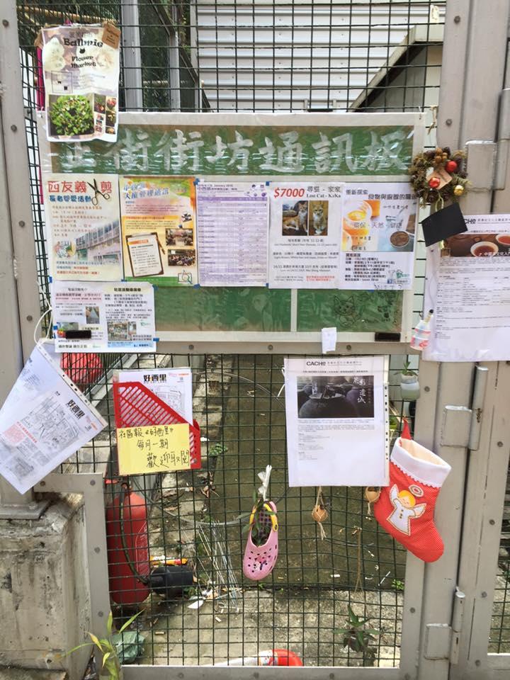正街街坊資訊板(圖片來源:西環變幻時 FB)