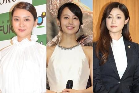 左起:《FRAGILE》武井咲、《彼岸花》堀北真希、《請跟這個沒用的我談戀愛》深田恭子