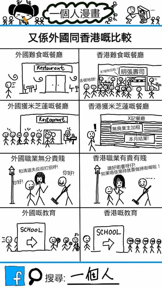 010 又係外國同香港比較